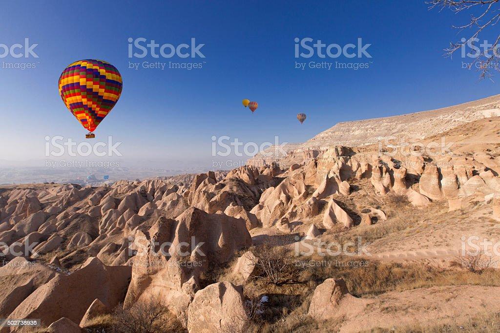 Waves of stone, Cappadocia, Turkey stock photo