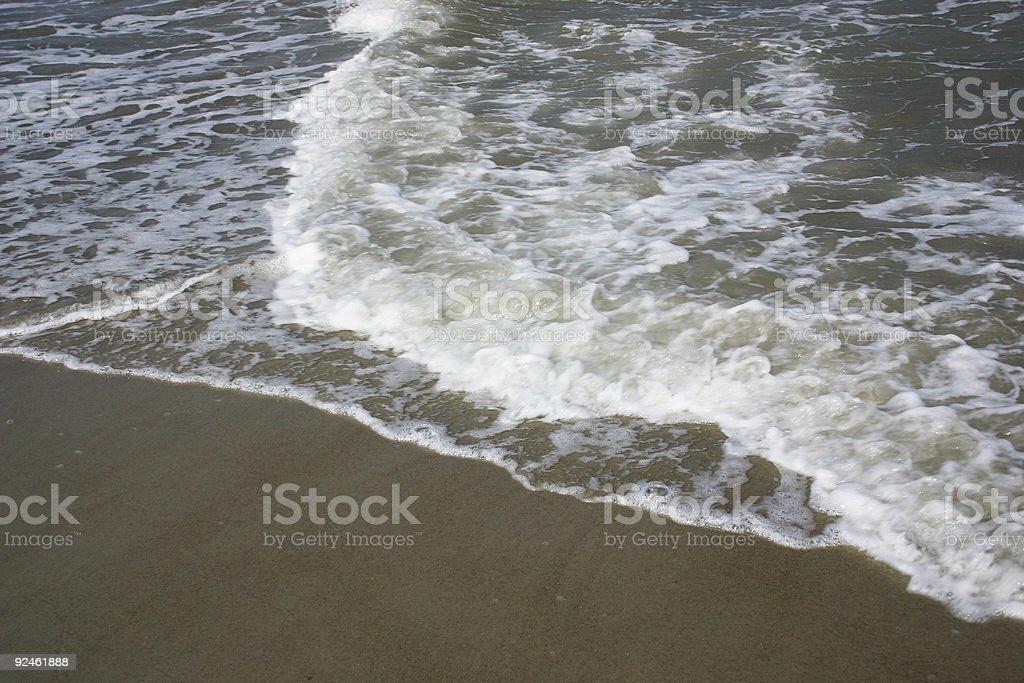 waves on beach stock photo