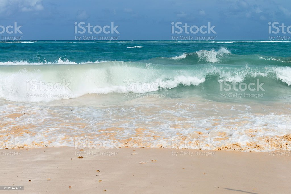 waves on the Atlantic Ocean stock photo