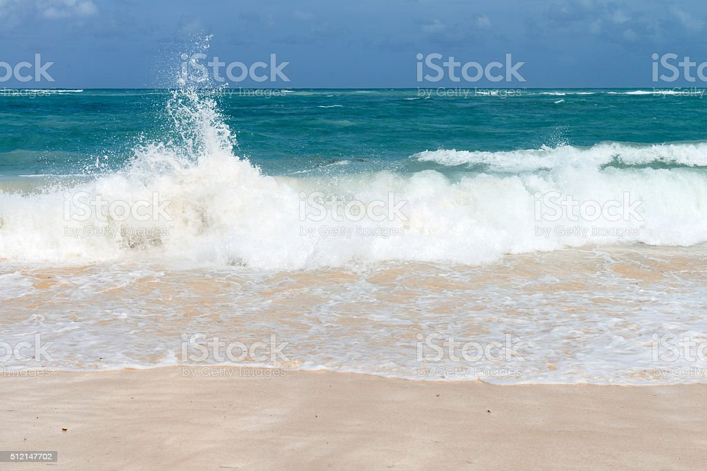 waves on the Atlantic Ocean stock photo