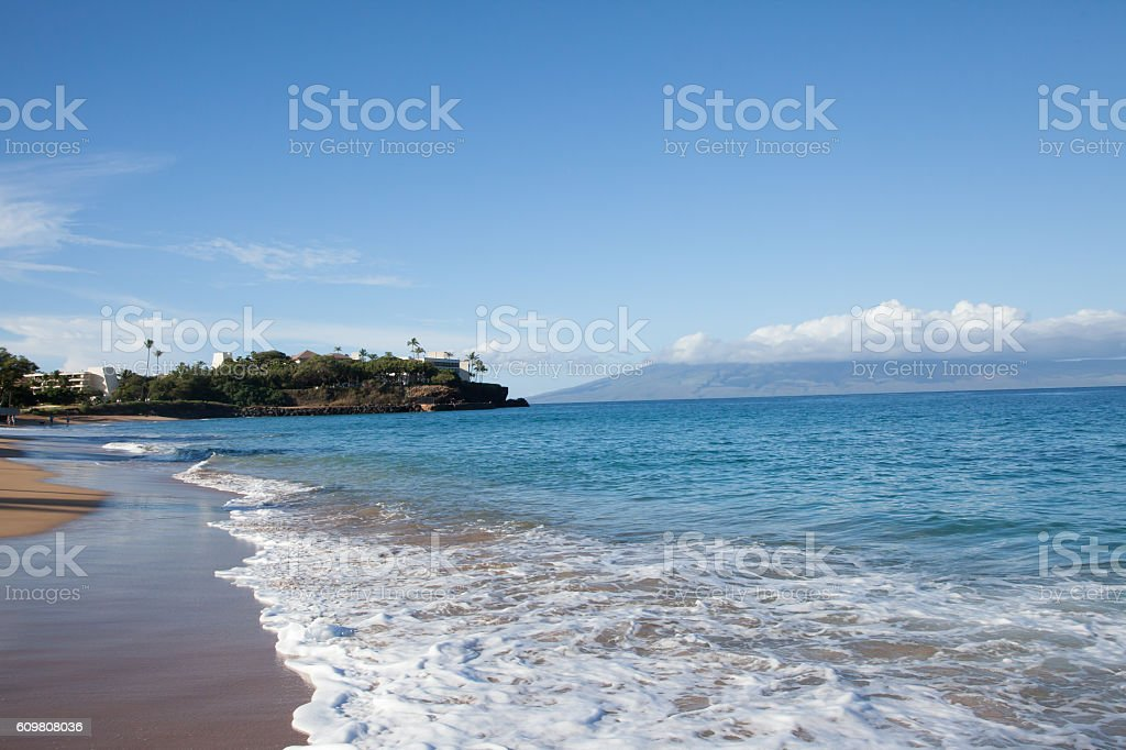 Waves on the Beach in Maui royalty-free stock photo