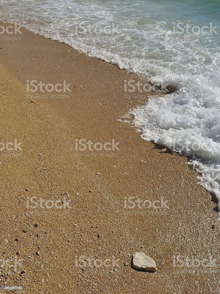 Fale na plaży Podgora, Chorwacja zbiór zdjęć royalty-free
