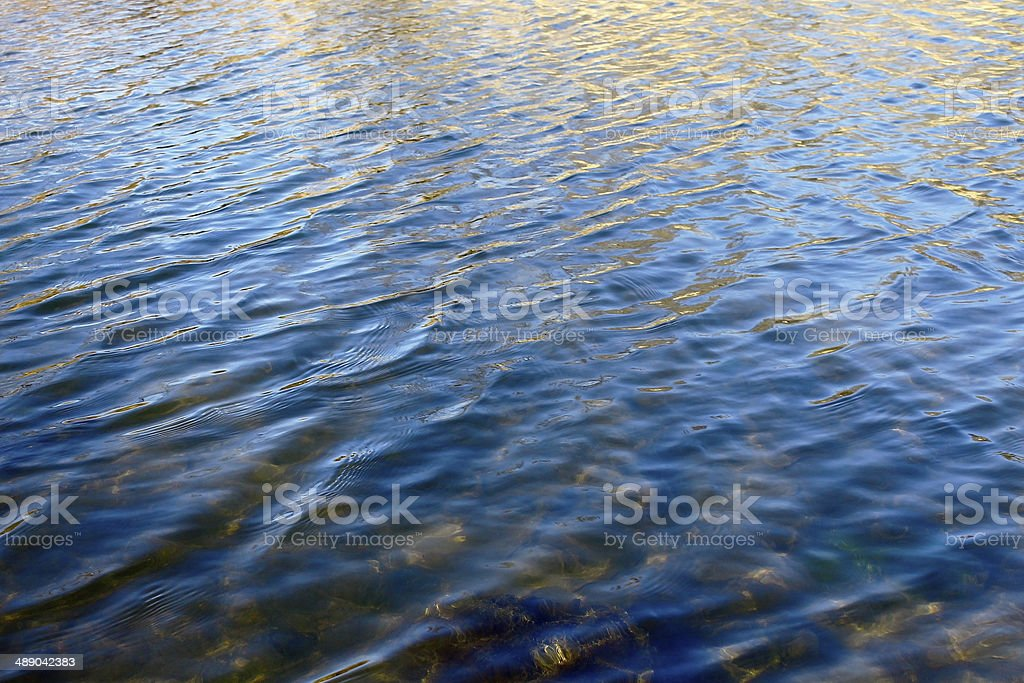 waves on the water surface royalty-free stock photo