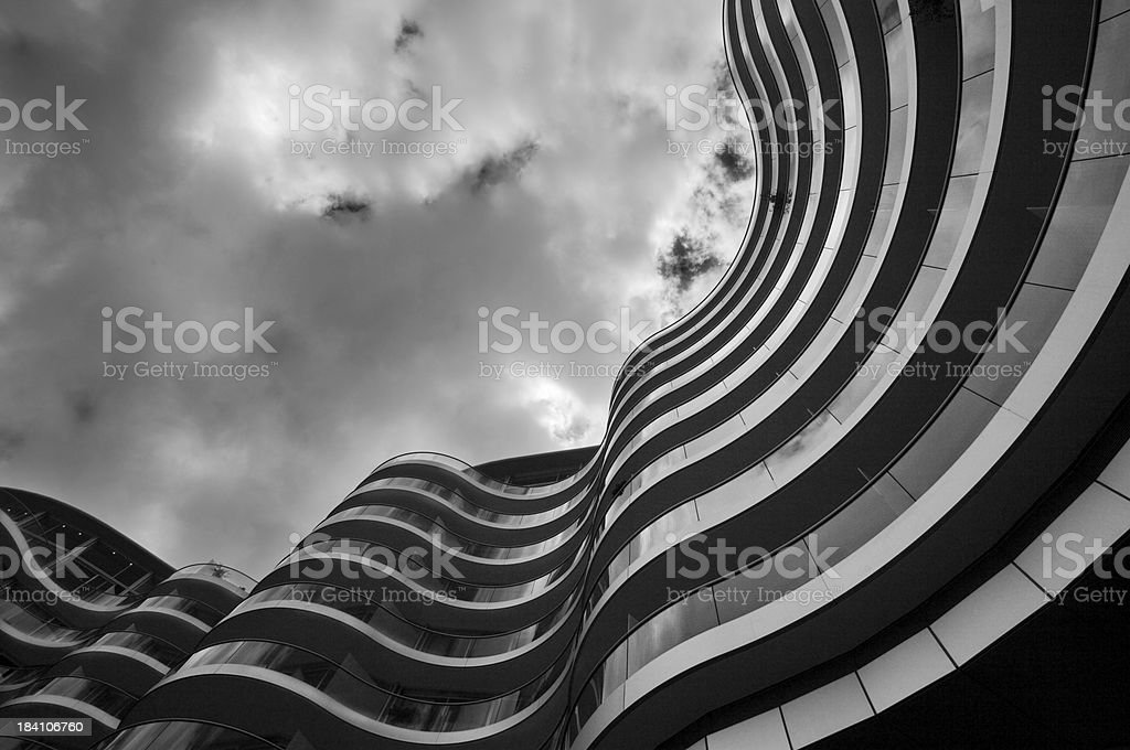 Wavey appartments royalty-free stock photo