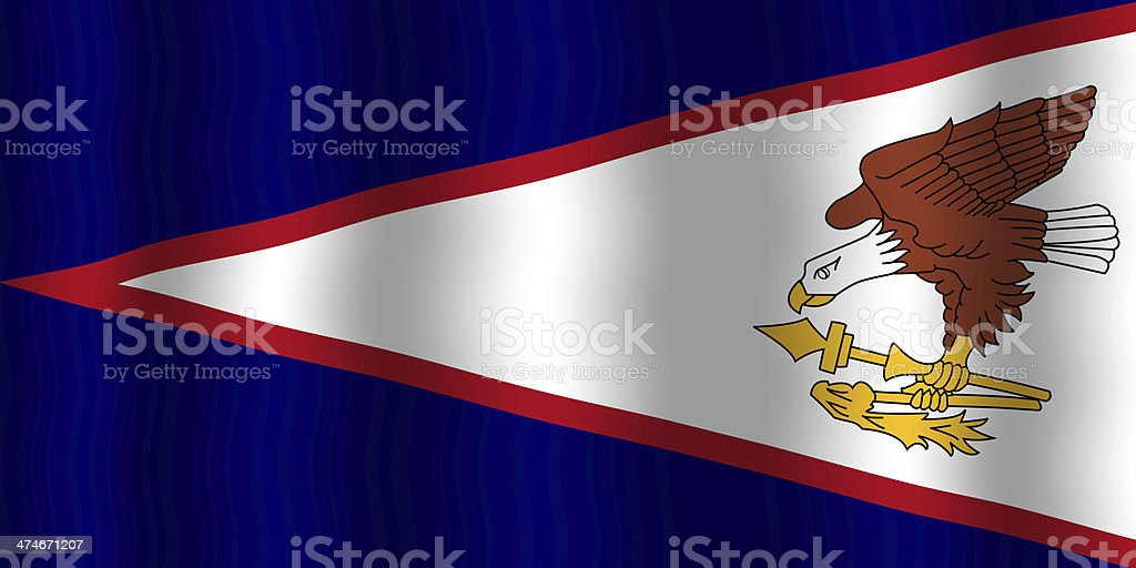 Waving American Samoa Flag stock photo