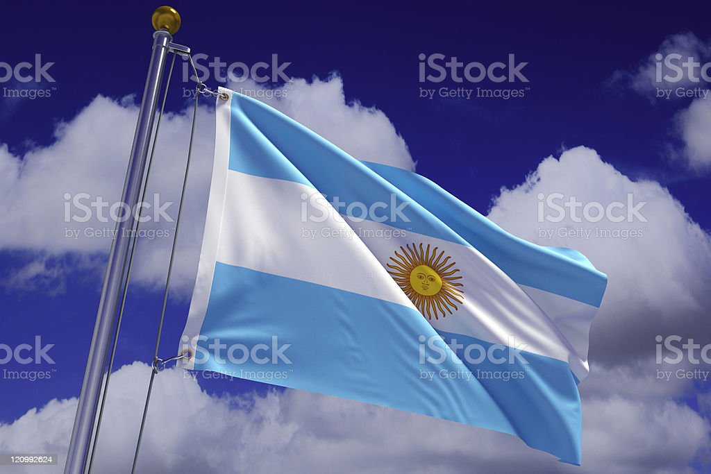 Waving Argentine Flag stock photo