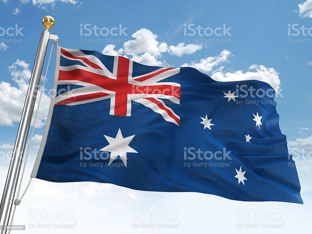 Waving Australia flag stock photo