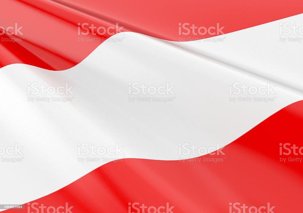 Waving austrian flag stock photo