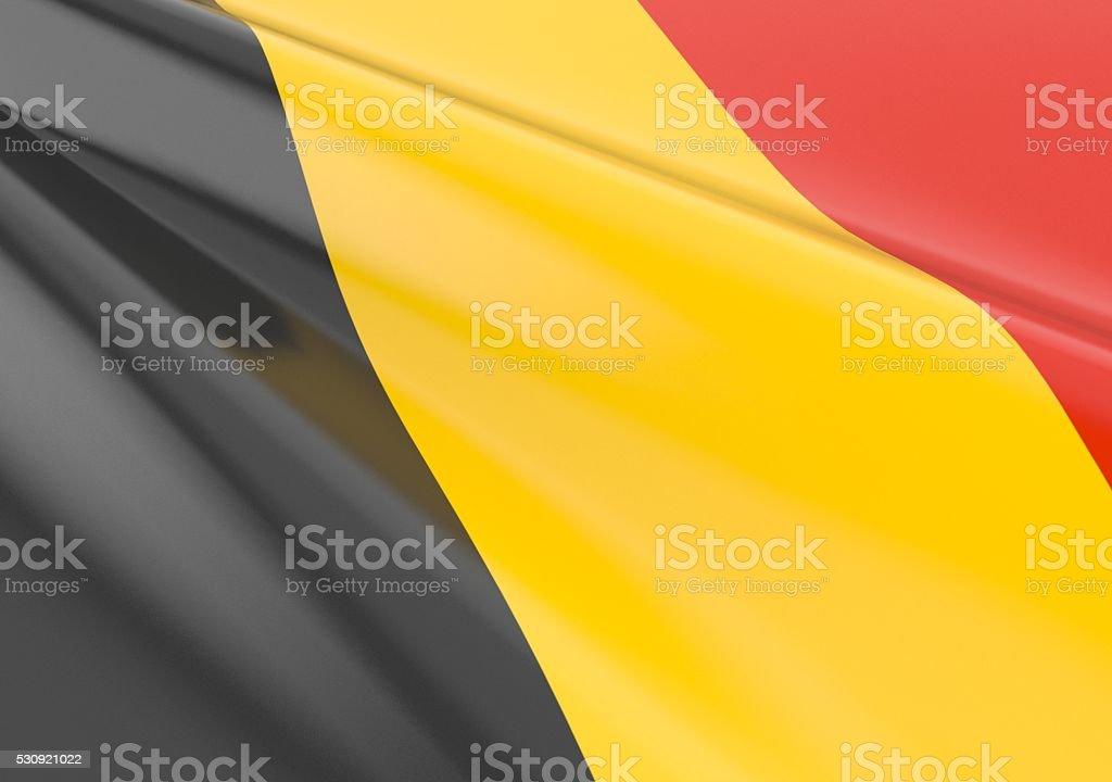 Waving belgium flag stock photo
