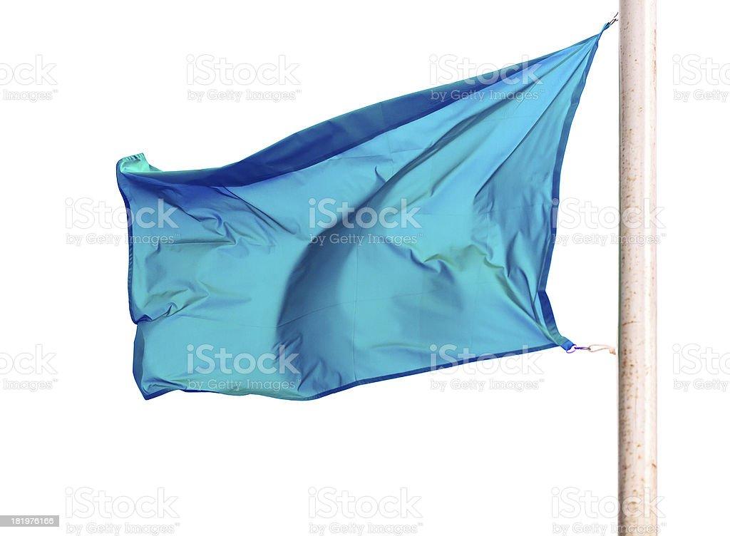 waving blue flag royalty-free stock photo
