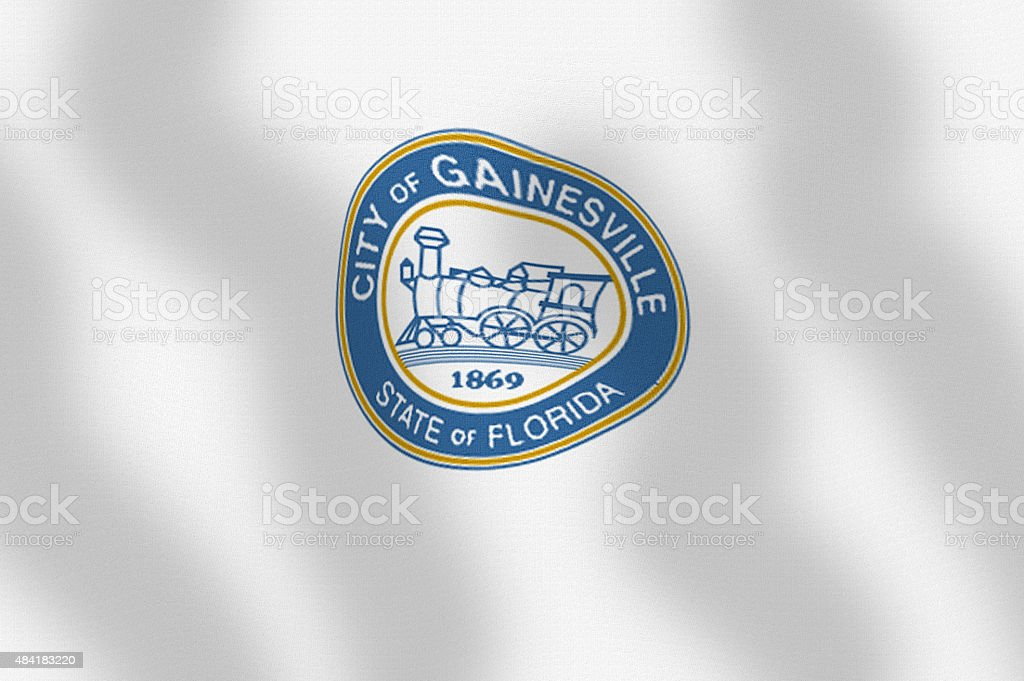 Waving City Flag of Gainesville State of Florida Series stock photo