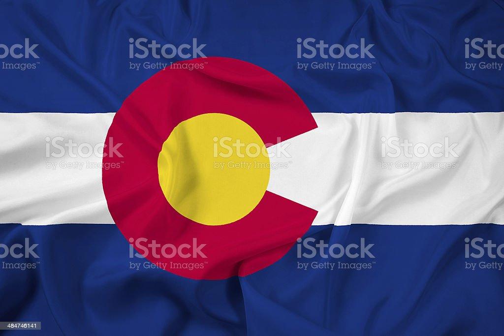 Waving Colorado State Flag stock photo