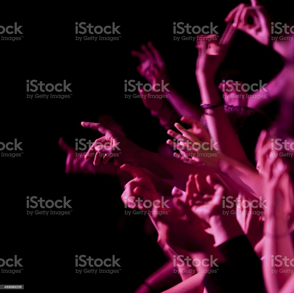 Waving during the concert royalty-free stock photo