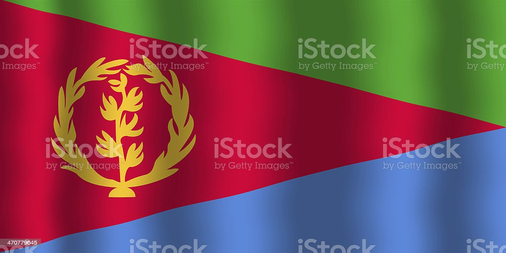 Waving Eritrea Flag stock photo