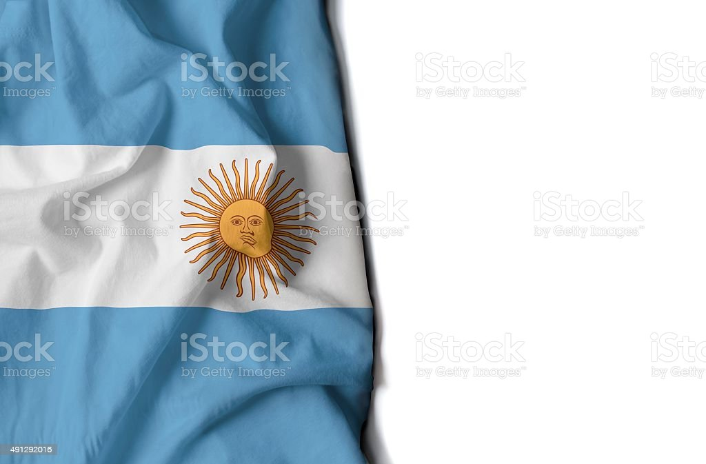 Waving flag of argentina, South America stock photo