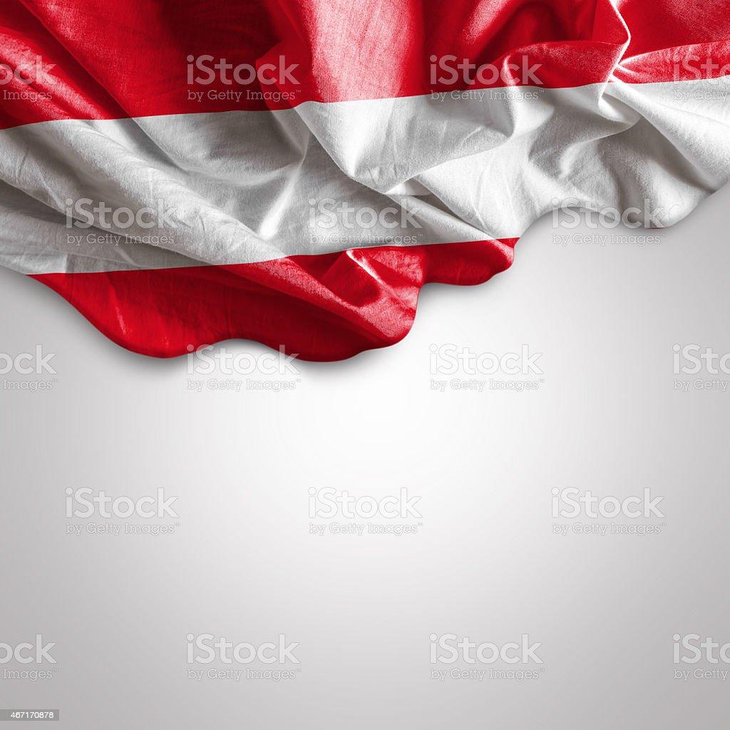 Waving flag of Austria, Europe stock photo