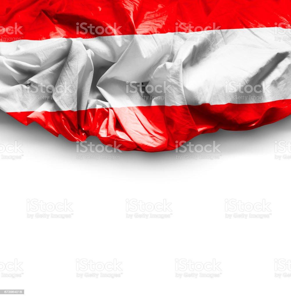 Waving Flag of Austria stock photo