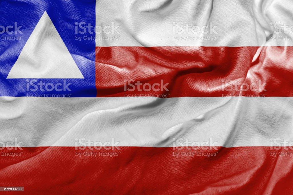 Waving Flag of Bahia, Brazil stock photo