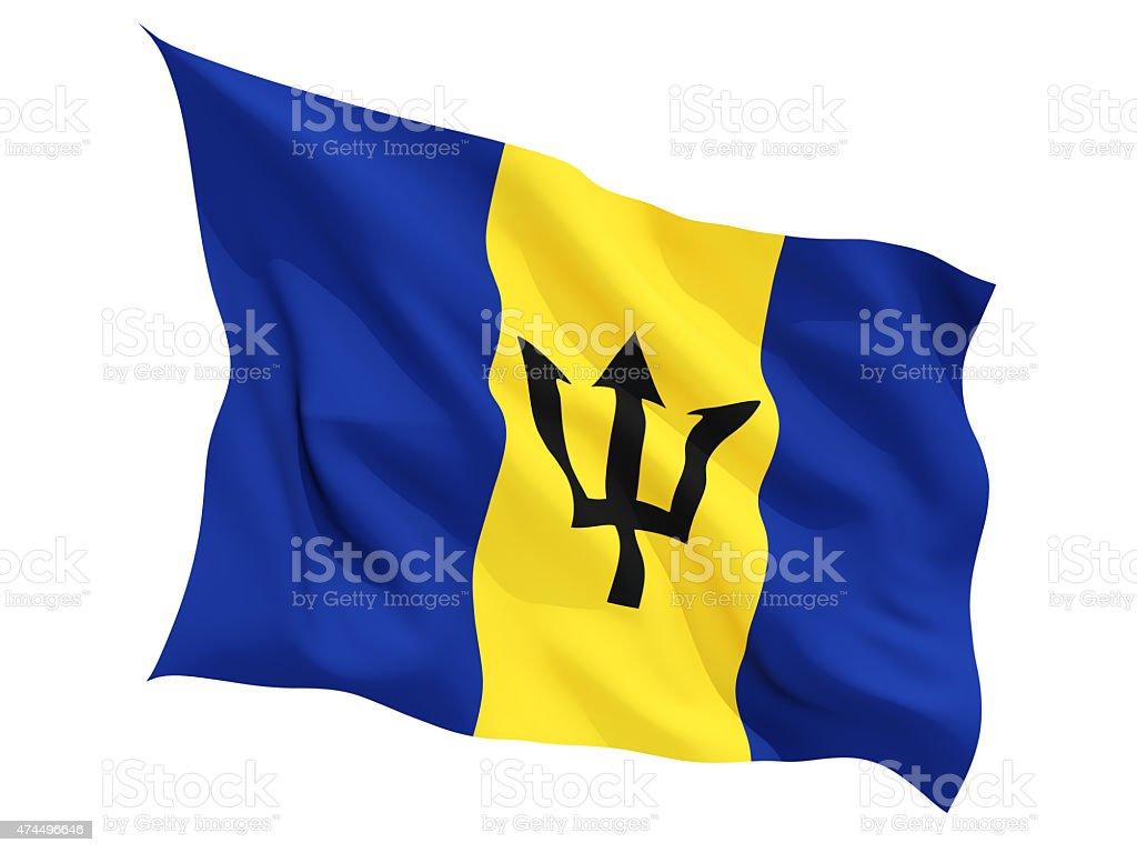 Waving flag of barbados stock photo