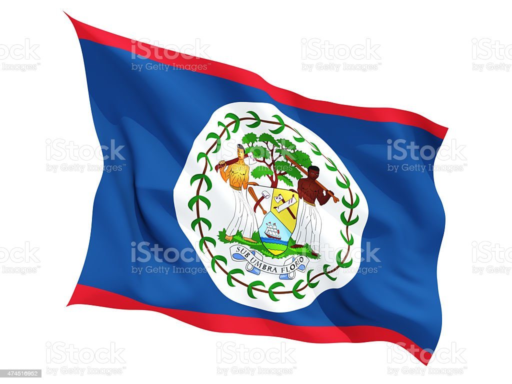 Waving flag of belize stock photo