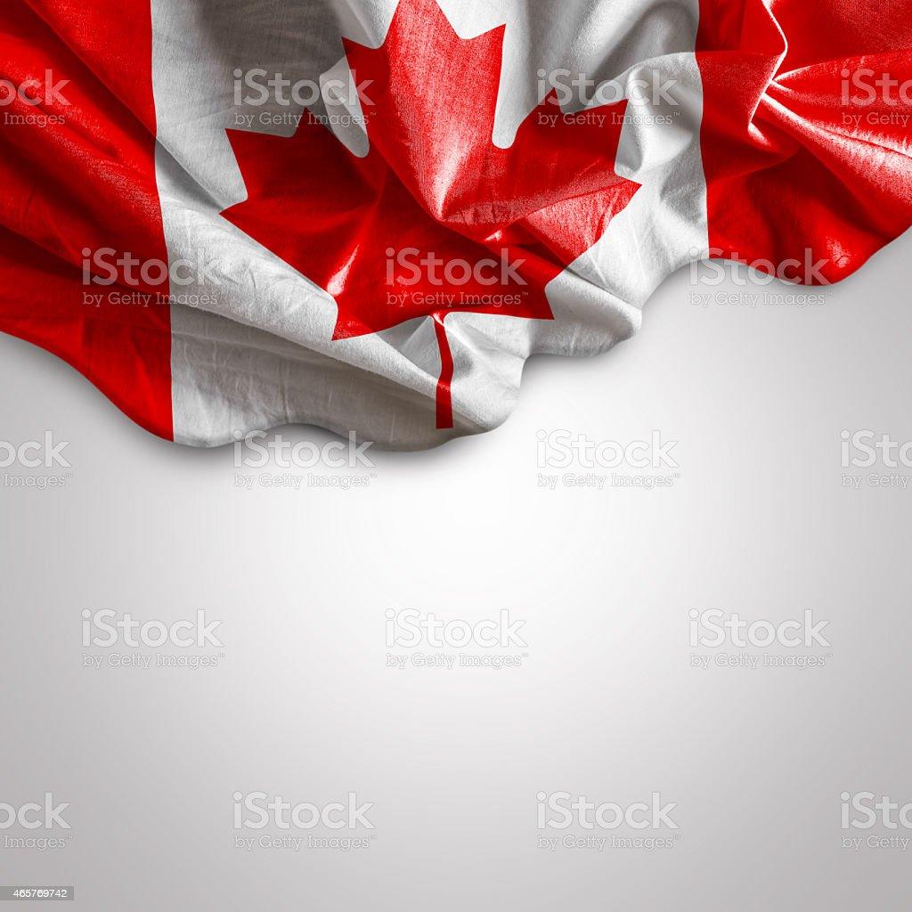 Waving flag of Canada, Europe stock photo