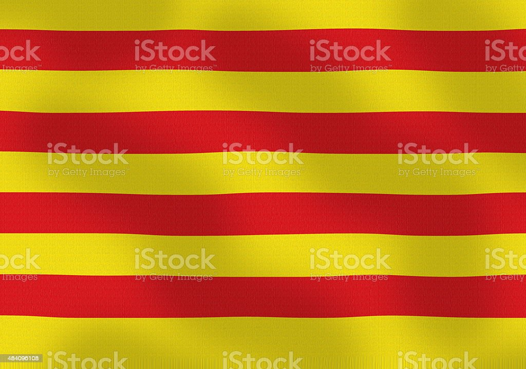 Waving Flag of Catalonia Spain Series stock photo