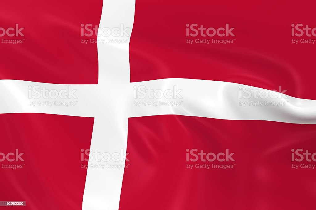 Waving Flag of Denmark stock photo