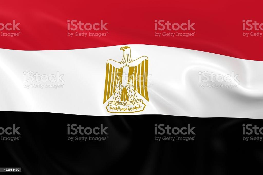 Waving Flag of Egypt stock photo