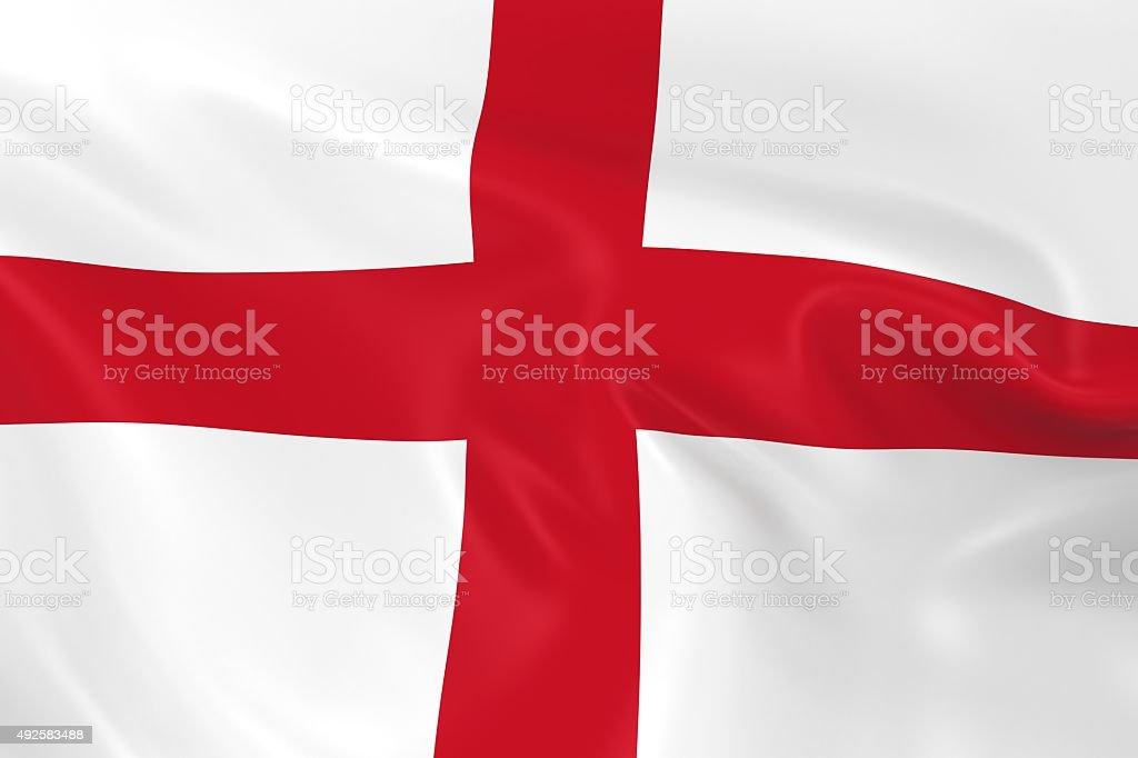 Waving Flag of England stock photo