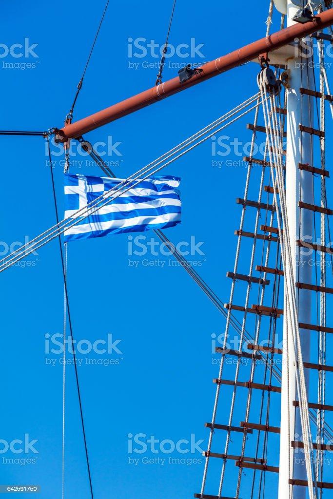 Waving Flag of Greece stock photo