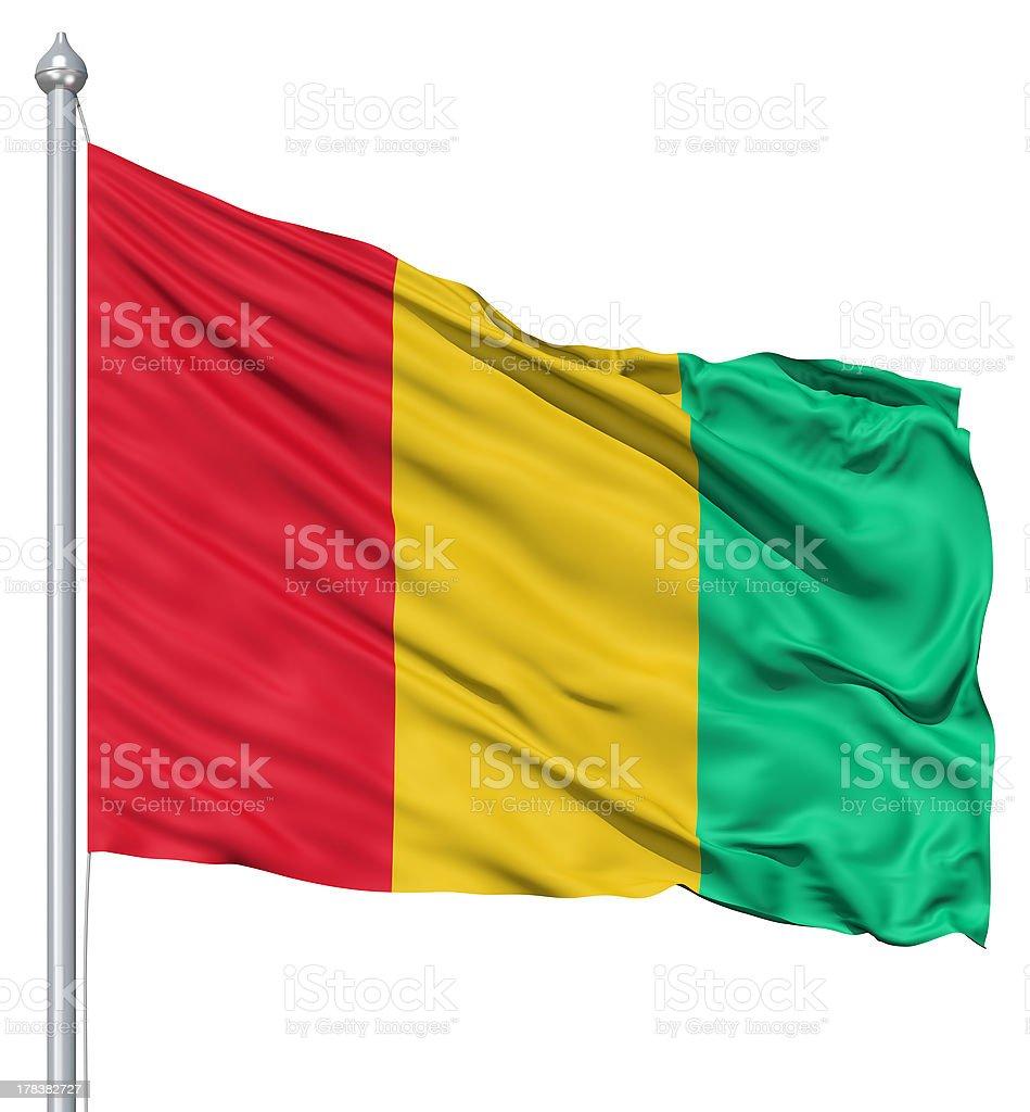 Waving flag of Guinea royalty-free stock photo