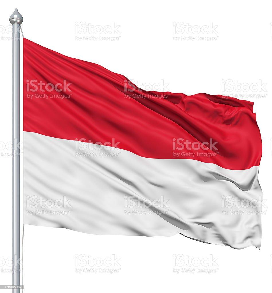 Waving flag of Indonesia stock photo