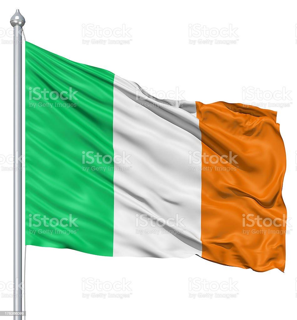 Waving flag of Ireland royalty-free stock photo