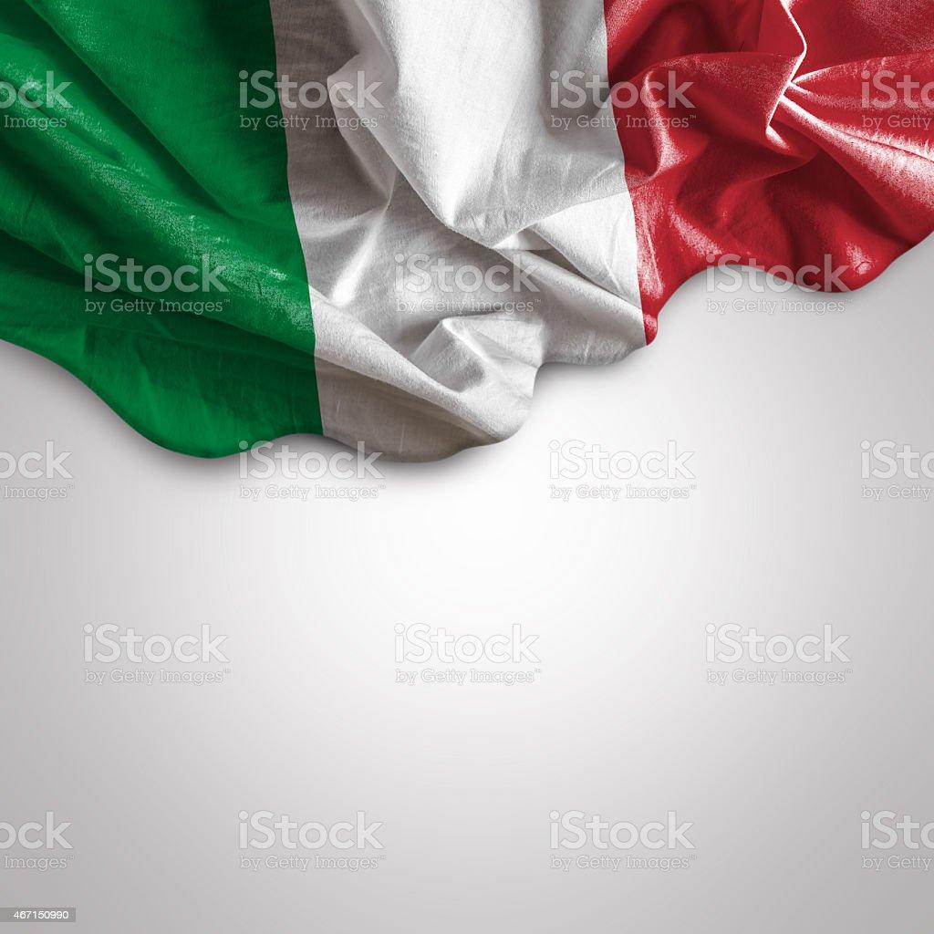 Waving flag of Italy, Europe stock photo