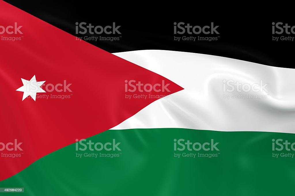 Waving Flag of Jordan stock photo