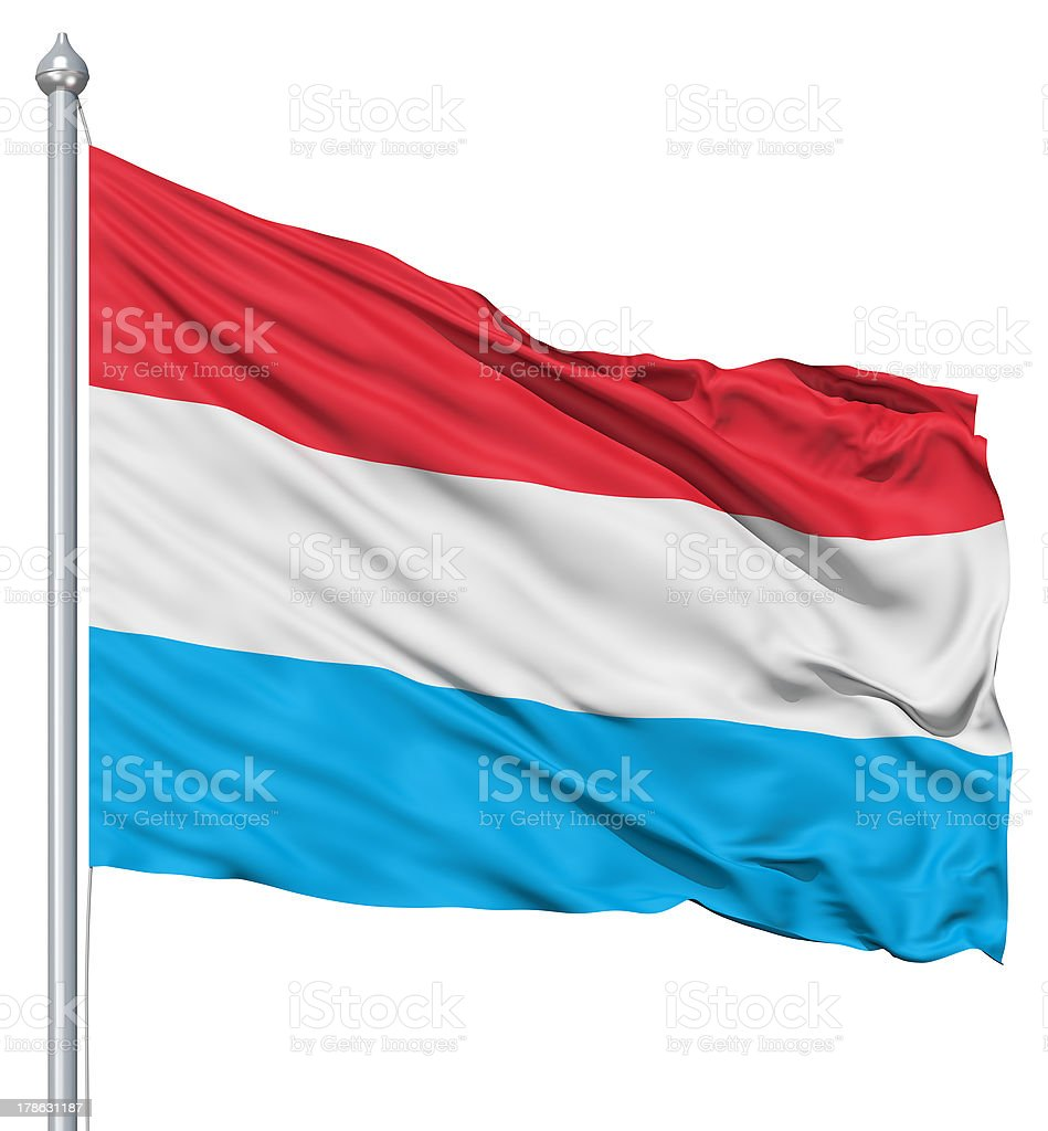 Waving flag of Luxembourg royalty-free stock photo