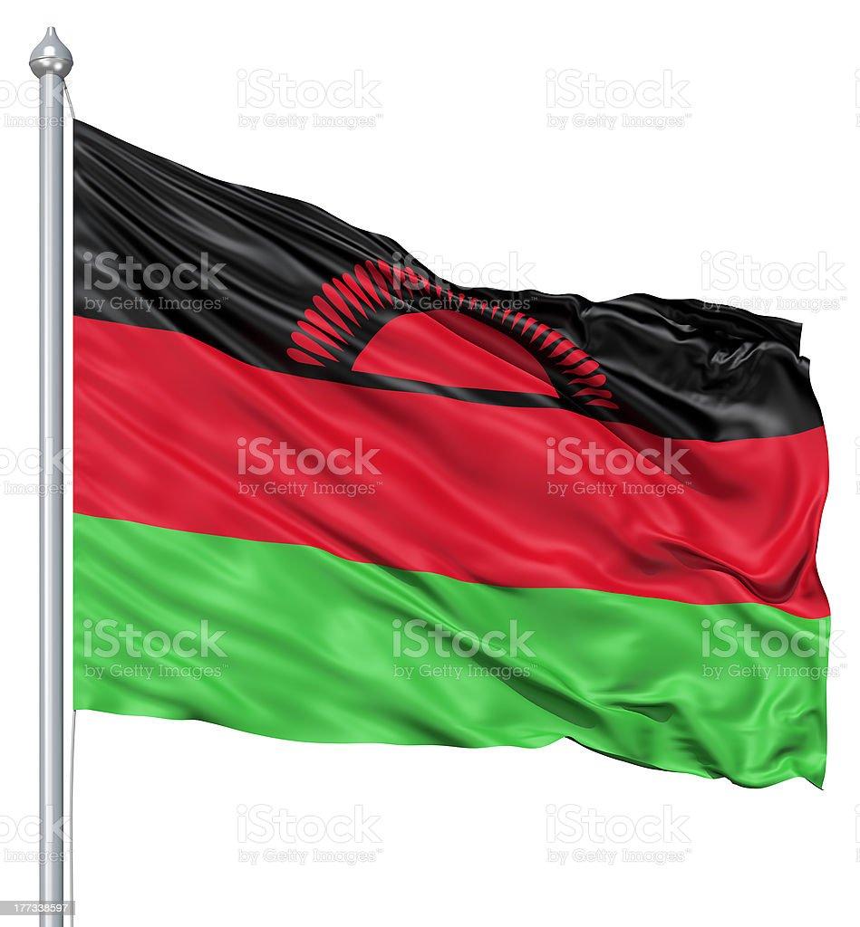 Waving flag of Malawi royalty-free stock photo