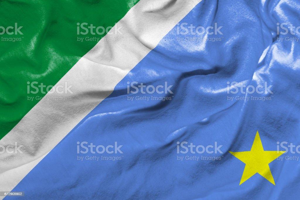 Waving Flag of Matogrosso do Sul, Brazil stock photo