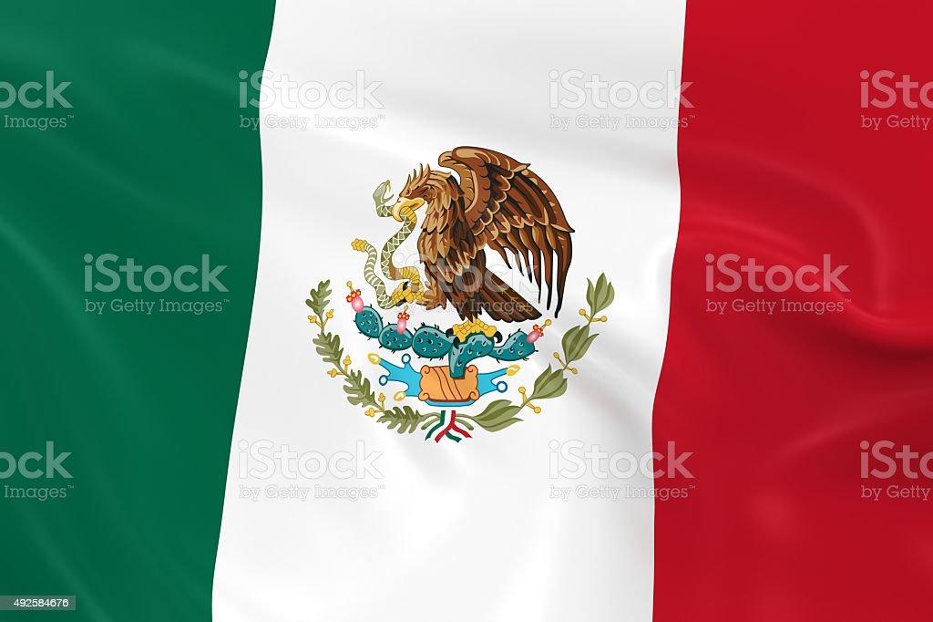 Waving Flag of Mexico stock photo