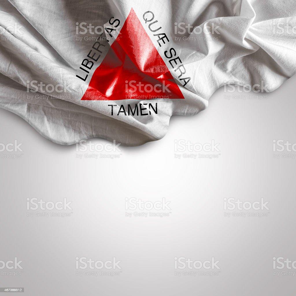 Waving flag of Minas Gerais, Brazil stock photo