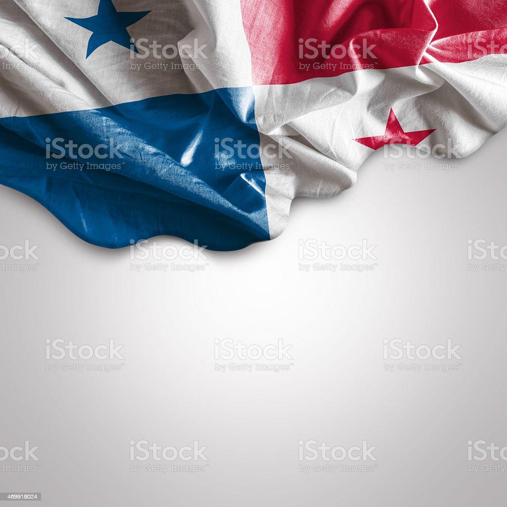 Waving flag of Panama stock photo