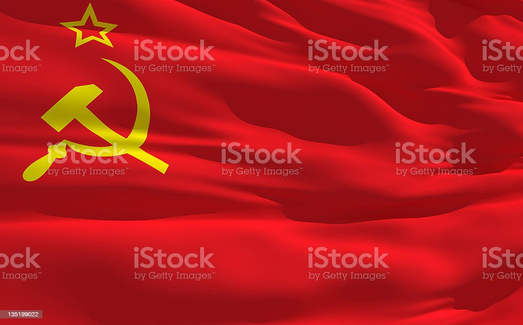 Waving flag of Soviet Union royalty-free stock photo
