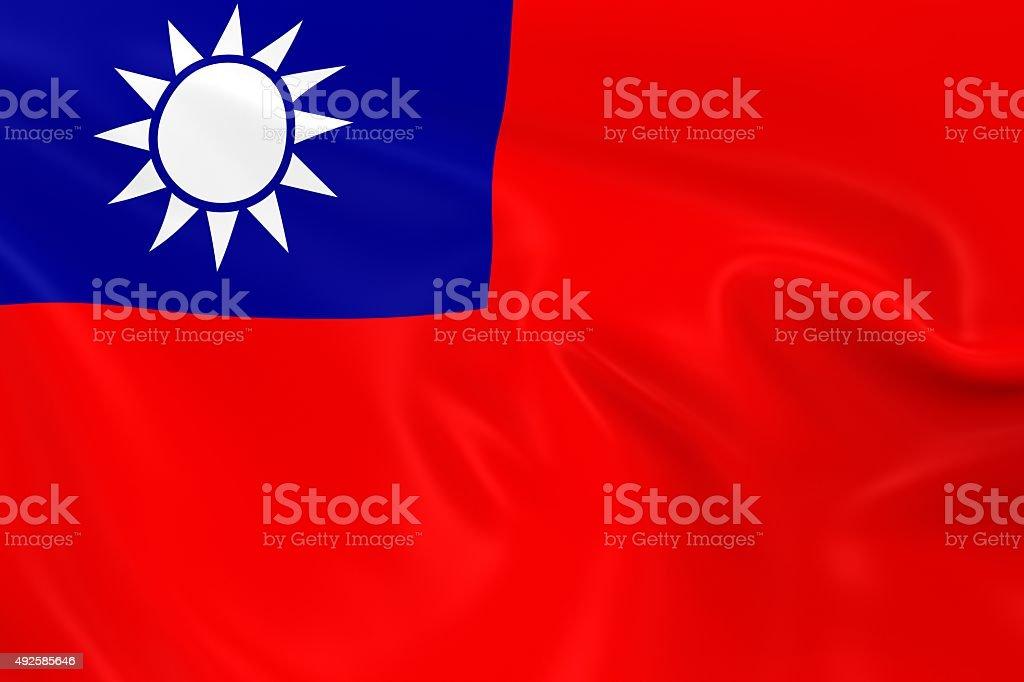 Waving Flag of Taiwan stock photo