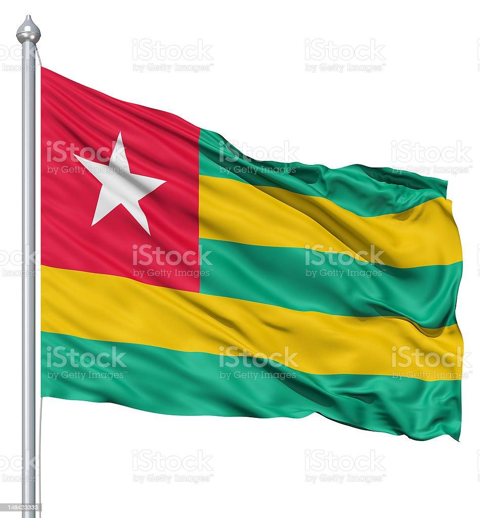 Waving flag of Togo royalty-free stock photo