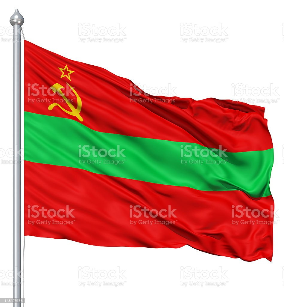 Waving flag of tria State royalty-free stock photo