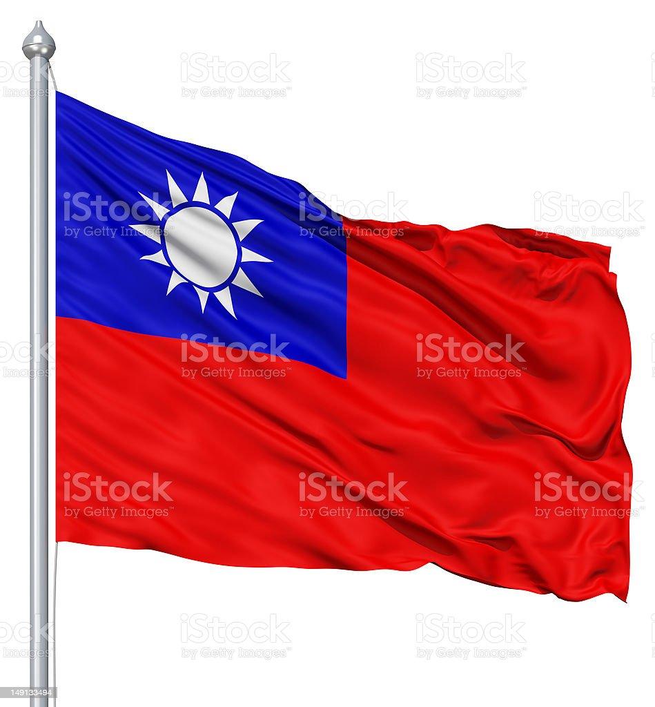 Waving flag Republic of China royalty-free stock photo