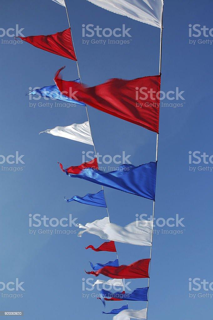 Waving flags royalty-free stock photo