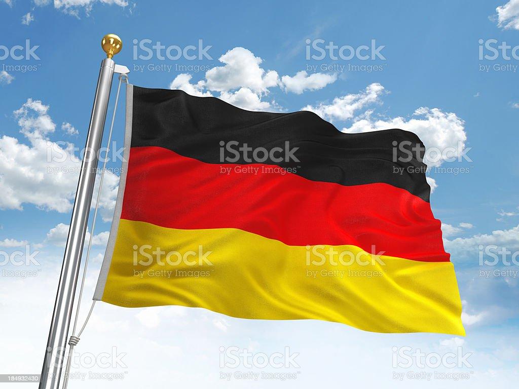 Waving German flag royalty-free stock photo