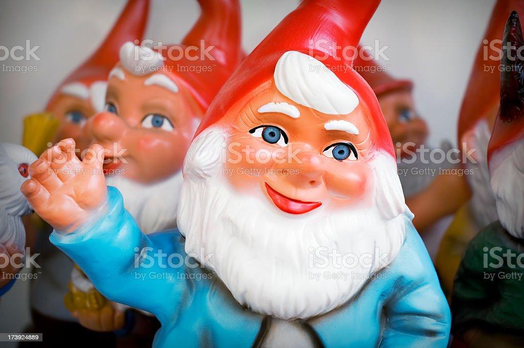Waving Gnome stock photo