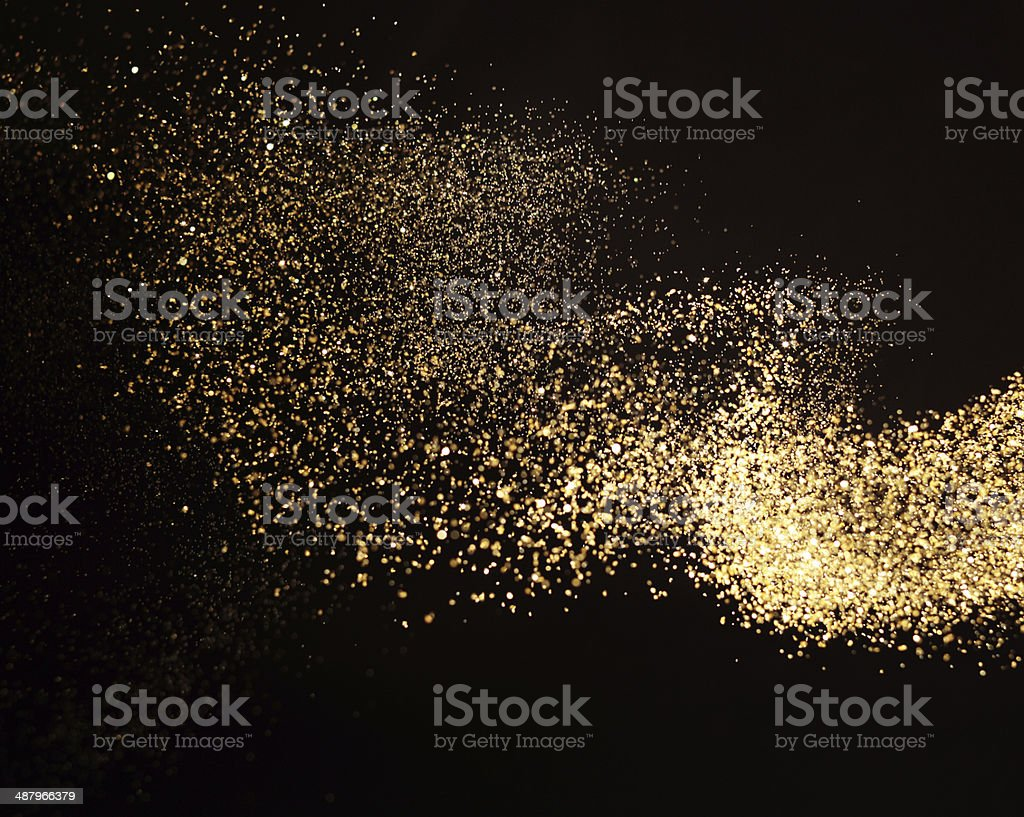 waving gold stock photo